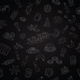 Modèle sans couture de vecteur des icônes de bière Images stock