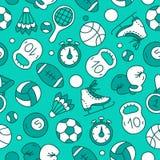 Modèle sans couture de vecteur des icônes de sports Photo libre de droits