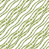 Modèle sans couture de vecteur des lignes onduleuses Photographie stock libre de droits