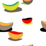 Modèle sans couture de vecteur des plats Photos stock