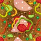 Modèle sans couture de vecteur des sandwichs colorés Images libres de droits
