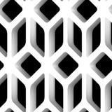 modèle sans couture de vecteur du trellis 3D Images libres de droits