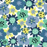 Modèle sans couture de modèle de vecteur de fleur sans couture de fond Fond de marguerites illustration de vecteur