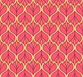 Modèle sans couture de vecteur floral élégant Illustration décorative de fleur Art Deco Background abstrait illustration libre de droits
