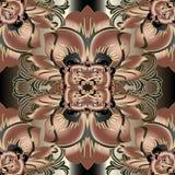 Modèle sans couture de vecteur floral baroque Vint d'ornamental de Flourish illustration de vecteur