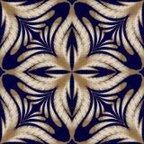 Modèle sans couture de vecteur floral de broderie Grunge P de style de damassé illustration de vecteur