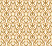 Modèle sans couture de vecteur floral d'or élégant Illustration décorative de fleur Art Deco Background abstrait Photos stock