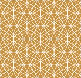 Modèle sans couture de vecteur floral d'or élégant Illustration décorative de fleur Art Deco Background abstrait illustration stock