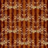 Modèle sans couture de vecteur floral d'or de vintage Draperie décorative Photo stock
