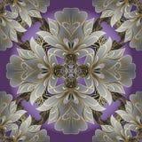 Modèle sans couture de vecteur floral de damassé Vinta d'ornamental de Flourish illustration de vecteur