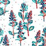 Modèle sans couture de vecteur floral et feuilles Photo libre de droits