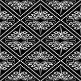 Modèle sans couture de vecteur floral noir et blanc de vintage Monochro illustration stock
