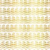 Modèle sans couture de vecteur de forme géométrique de griffonnage de feuille d'or Demi formes texturisées d'or tirées par la mai illustration libre de droits