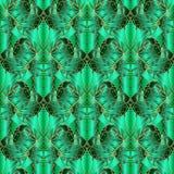 Modèle sans couture de vecteur géométrique abstrait vert Pai ornemental Photo stock