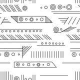 Modèle sans couture de vecteur géométrique avec différentes formes géométriques Place, triangle, rectangle, lignes Conception mod illustration de vecteur