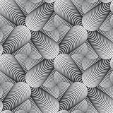Modèle sans couture de vecteur géométrique de pétales Images stock