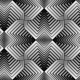 Modèle sans couture de vecteur géométrique de pétales Image stock