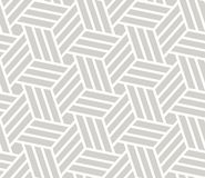 Modèle sans couture de vecteur géométrique simple de résumé avec la ligne blanche texture sur le fond gris Moderne gris-clair illustration libre de droits
