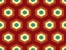 Modèle sans couture de vecteur isométrique géométrique abstrait Images libres de droits