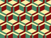 Modèle sans couture de vecteur isométrique géométrique abstrait Photos libres de droits