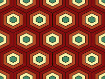Modèle sans couture de vecteur isométrique géométrique abstrait Photo stock
