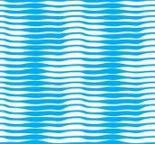 Modèle sans couture de vecteur marin avec les vagues bleues stylisées, courbe l illustration libre de droits
