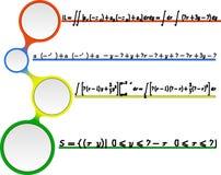 Modèle sans couture de vecteur mathématique avec des formules Image libre de droits