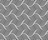 MODÈLE SANS COUTURE DE VECTEUR DE MER DE VAGUE LIGNES RAYÉES PARALLÈLES Texture monochrome illustration stock