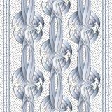 Modèle sans couture de vecteur moderne du résumé 3d Ornamental rayé d illustration libre de droits