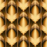 Modèle sans couture de vecteur moderne du résumé 3d Ornamental texturisé illustration stock