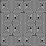Modèle sans couture de vecteur noir et blanc abstrait de zigzag Photos libres de droits
