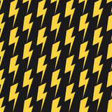 Modèle sans couture de vecteur noir jaune de foudres illustration stock
