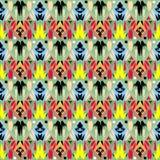 Modèle sans couture de vecteur ornemental tribal Colorfu abstrait folklorique illustration stock