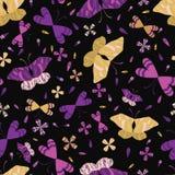 Modèle sans couture de vecteur de papillons graphiques colorés de large échelle illustration stock