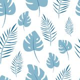 Modèle sans couture de vecteur de paume de feuille Fond de jungle pour la copie illustration stock