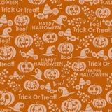 Modèle sans couture de vecteur pour Halloween Photos libres de droits