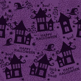 Modèle sans couture de vecteur pour Halloween Images stock