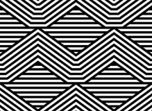 Modèle sans couture de vecteur rayé abstrait Photo libre de droits