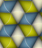 Modèle sans couture de vecteur rayé de cône Image stock