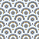 Modèle sans couture de vecteur semi des cercles Photos stock