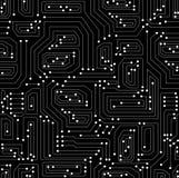 Modèle sans couture de vecteur technique avec la carte Image libre de droits