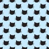 Modèle sans couture de vecteur tiré par la main de chats illustration de vecteur