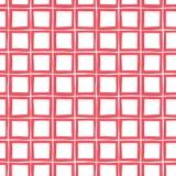 Modèle sans couture de vecteur tiré par la main rouge de plaid Fond classique moderne lunatique de tartan illustration libre de droits