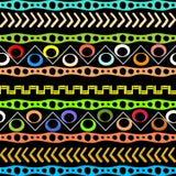 Modèle sans couture de vecteur tribal aztèque indigène de style Afr géométrique illustration stock