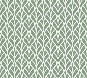 Modèle sans couture de vecteur vert élégant de feuille Illustration décorative de fleur Art Deco Background abstrait Illustration Libre de Droits