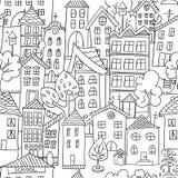 Modèle sans couture de ville Photos libres de droits