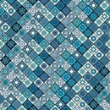 Modèle sans couture de vintage avec des éléments de patchwork de tuile Photos stock