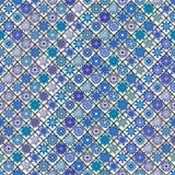 Modèle sans couture de vintage avec des éléments de patchwork de tuile Photos libres de droits