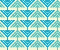 Modèle sans couture de vintage avec des triangles et des pixels Photographie stock libre de droits