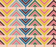 Modèle sans couture de vintage avec des triangles et des pixels Image stock